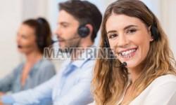 Téléconseillers pour call center