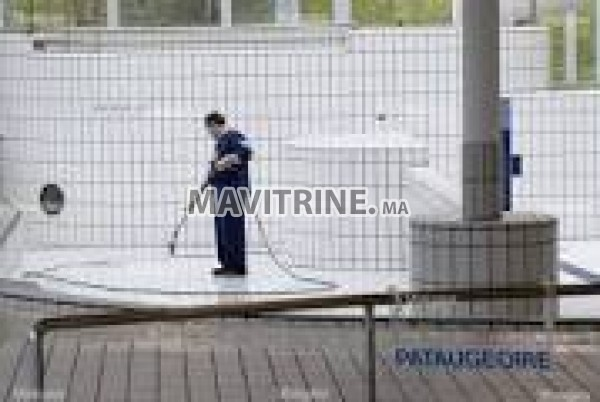 Nettoyeur de piscine et travaux divers