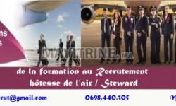 Inscription ouverte de la formation Hôtesse de l'air / Steward