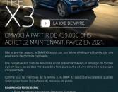 BMW X3 à partir de 439.000 Dhs ! Achetez maintenant, payez en 2021