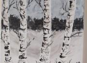 Photo de l'annonce: Tableau la forêt sous la neige