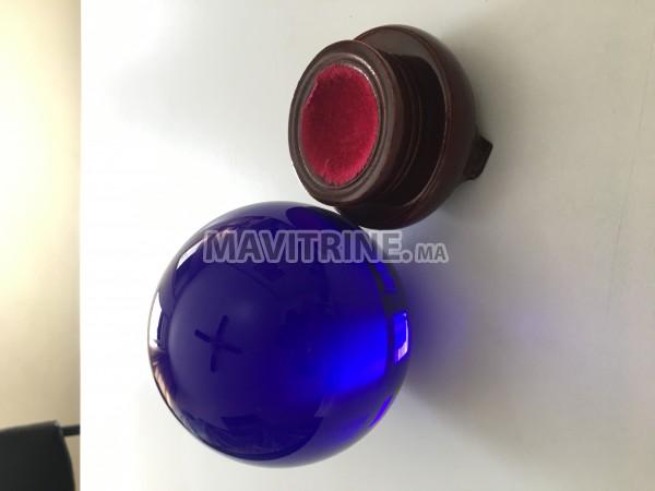 Large Sphère en verre plein - couleur BLEU COBALT (ÉTAT NEUF)