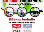 Photo de l'annonce: Formation ISO 14 001 vs 2015