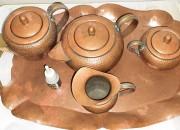 Photo de l'annonce: Service de thé de 5 pièces en cuivre rouge